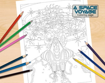 Leaving Earth Coloring Page