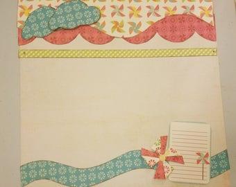 Sweet Summertime 2 Page Scrapbook Kit