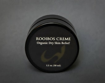 ROOIBOS CREME, organic face creme for dry skin, dry skin relief, chapped skin relief, eczema hand creme, sores on hands, firming face creme