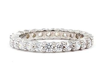 Eternity Sterling Silver Cz Ring (1444)