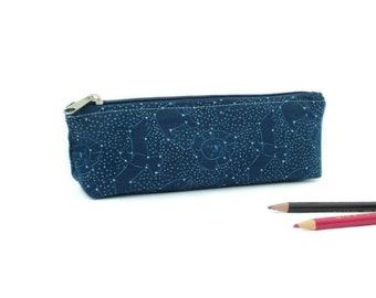 Constellation Pencil Case / Cute Pencil Cases / Cool Pencil Cases / Space Gifts / Astronomy Gifts / Space Pencil Pouch / Zipper Pencil Pouch