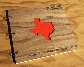 Travel Album Wood Engraved /States of the US Photo Album /Wood Family Album /America The Beautiful Album /Wood Gift Album /Travel Scrapbook