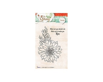 Stamp Clear StudioLight Basics So Nr.284 new Dahlia flower, Spring