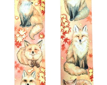 Maple and fox paper tape(Bronzing)