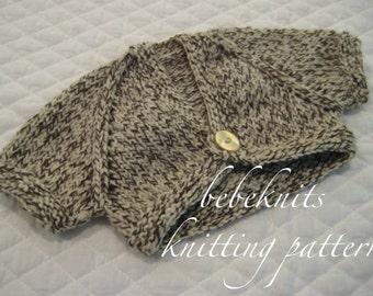 Bebeknits Sweet Preemie Front Tie Baby Cardigan Knitting Pattern