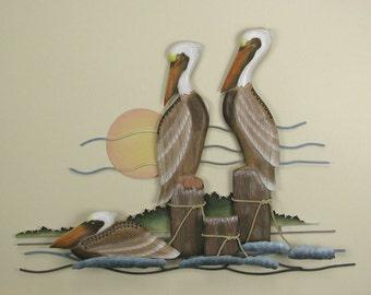 Pelican Trio Wall Sculpture - CW165