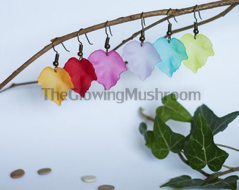 Ivy leaf earrings pendants (mori girl, Elf, fairy)