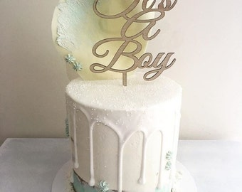 Its a Boy Cake Topper Baby Shower Gender reveal