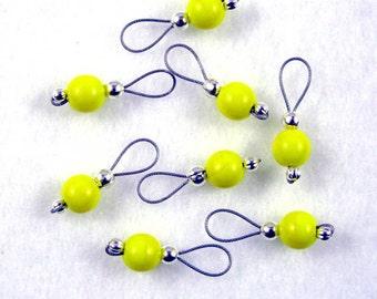Lemon Zest Sock Knitter Stitch Markers - Set of 8 - US 5 - Item No. 841