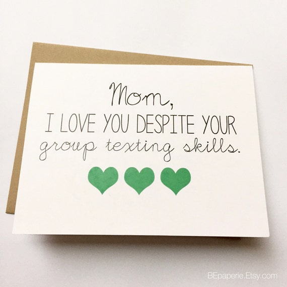 Funny Mom Card Mothers Day Card Mom Birthday Card
