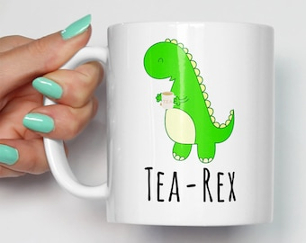 Tea Rex Funny Novelty Mug   Brew Dinosaur Tyrannosaurus Gift For Him Her Birthday Rex