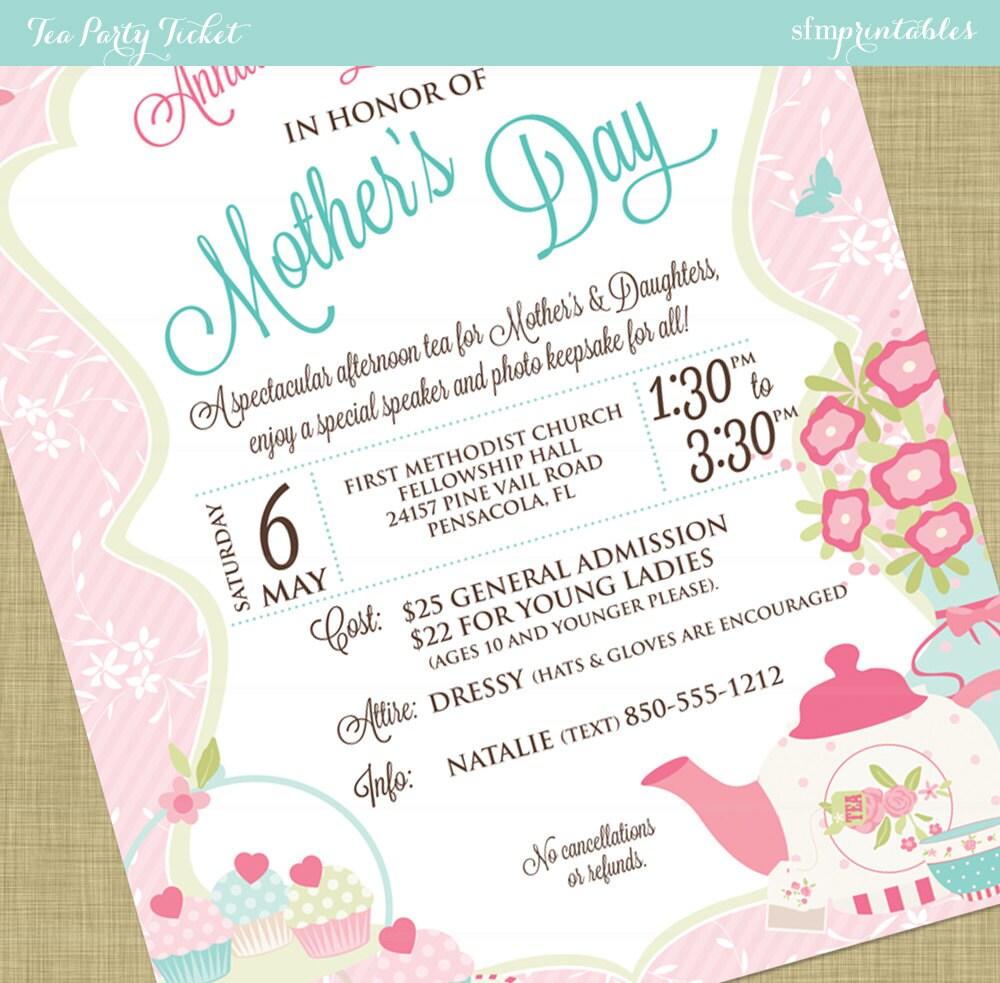 Women\'s Tea Flyer Invitation Postcard Poster Template