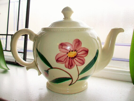 Vintage Teapot Essex China Hand Painted Flowers