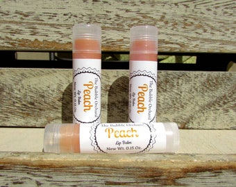 Peach Lip Balm, FREE SHIPPING