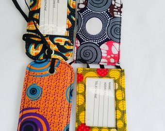 African print Luggage tags