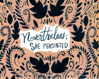 She Persisted postcards -  set of five 5.5 x 4.25
