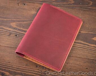 Leuchtturm 1917 Medium (A5) Hardcover Notebook cover - Horween Chromexcel, red
