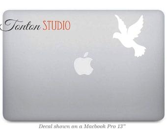 Dove Macbook Decal / Dove Macbook Sticker / Peace Bird Sticker / Laptop Notebook Macbook Air Pro Car sticker Removable Vinyl - G026