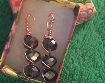 Super Dangly Faceted Glass Earrings
