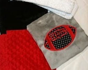 "Football Baby Blanket Kit "" Football Lovers"""