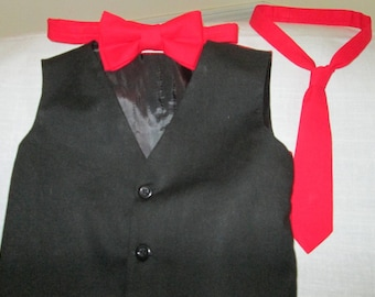 Suit vest, pants, bow tie, plus free necktie, Baby, Toddler, Holiday