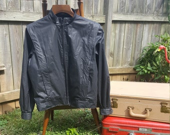 Vintage 80s Black Members Only Jacket