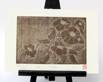 Clematis - Original Etching