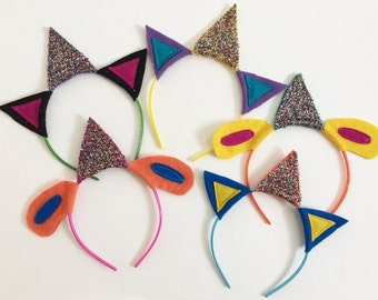 Party Animal Headband Pack, Photo Booth Props, birthday party favors, cats and dogs
