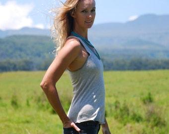 Yoga Layering Racerback Tank Top for Women - Organic Cotton Yak Down Jersey -  Organic Clothing