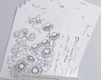 Papier, à colorier coloriage de fée