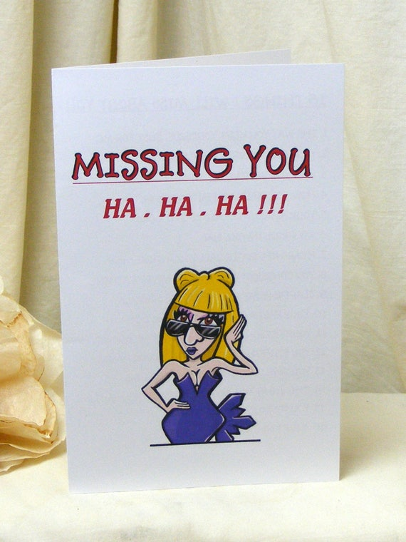 Hysterical Downloadable BREAK UP CARD (Blonde Woman)