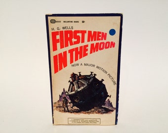 Vintage Sci Fi Book The First Men in the Moon by H. G. Wells 1964 Movie Tie-In Edition Paperback