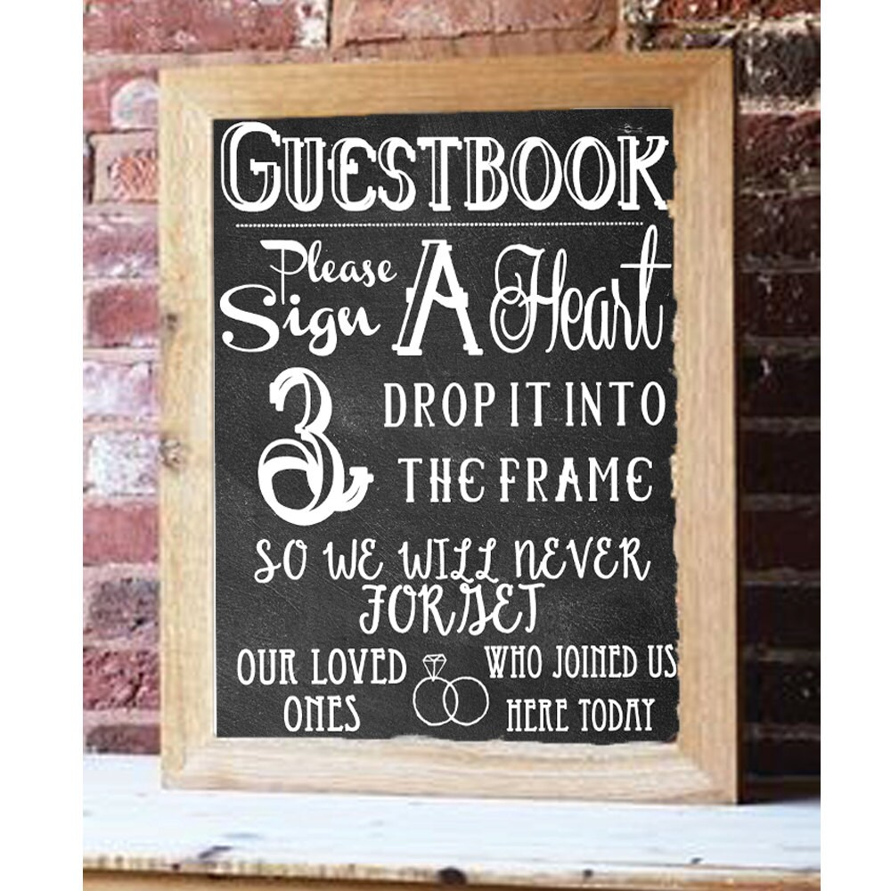 Chalkboard Hearts Guestbook Wedding Diy Download And Print