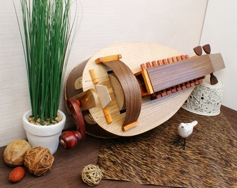 Hurdy-Gurdy / Ukrainian Lira / Organistrum / Lyre / Barbiton / Wheel Vielle / Handmade Medieval Musical Instrument / Wheel Fiddle / Ukraine