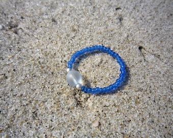 Light Blue Glass Ring