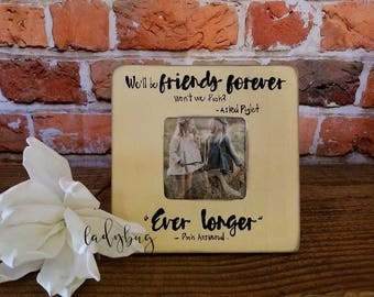 We'll be friends forever, won't we Pooh?.... Customize your own frame 8x8' Friendship. Babies gift. Love by Ladybug Design by Eu.