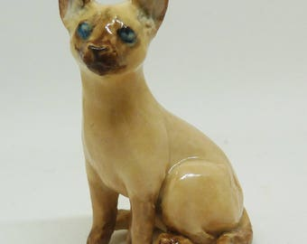 Ceramic Siamese Cat Sculpture
