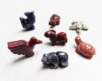 Seven Animal Fetish beads