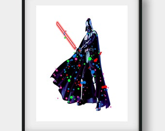 Darth Vader, Darth Vader Print, Darth Vader Poster, Darth Vader Art, Star Wars Print, Star Wars Birthday, Star Wars Art, Darth Vader Decor