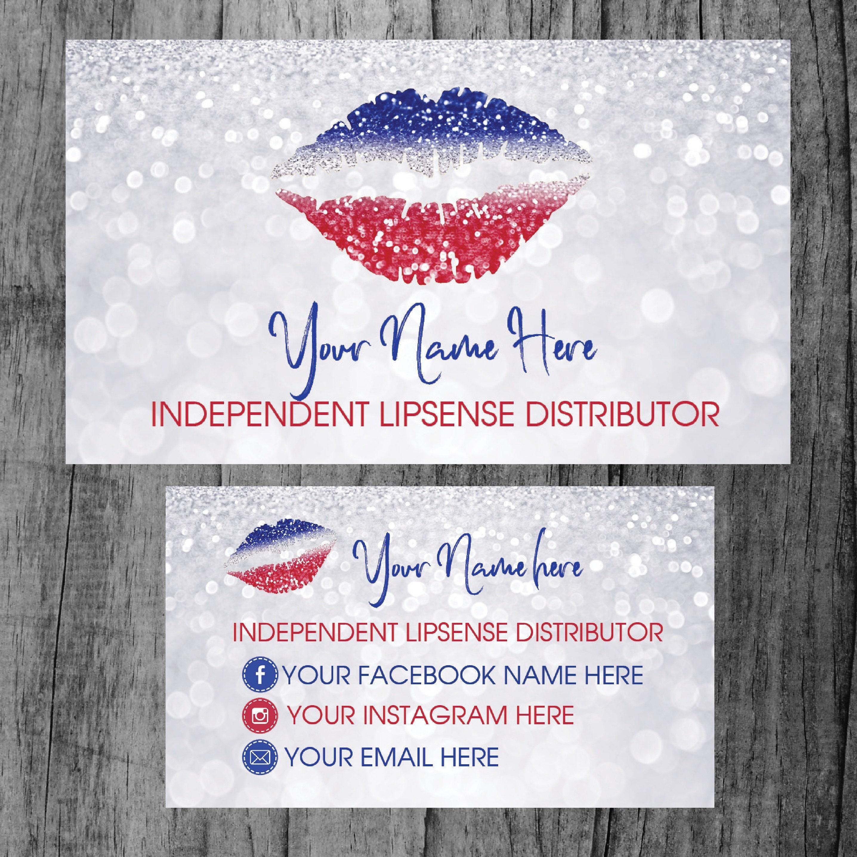 Business Card Lipsense Senegence Business Cards Lipsense