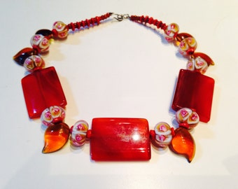 Flames in the evening Sun Chocker Necklace
