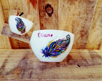 colorful feather Bowl