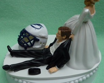 Wedding Cake Topper Detroit Red Wings Hockey Themed W Bridal