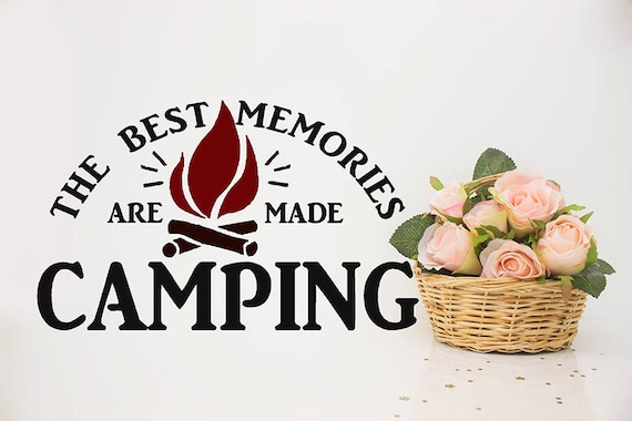 Camping vinyl decals camper decal rv vinyl decal sticker