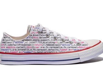 source code custom Converse / code software engineer custom shoes / custom shoes with your code