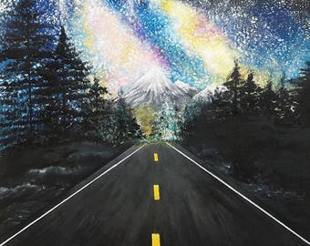 Canvas acrylic painting- 'long journey'