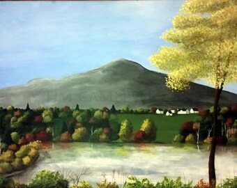Mt. Monadnock From Stone Pond Giclee Print by Tim Campbell