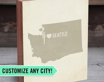 Custom City Art - Map Wall Art - State Art - Map Gifts for Men - City Name Print - City Art - City Sign - City Map Art - Custom City Maps