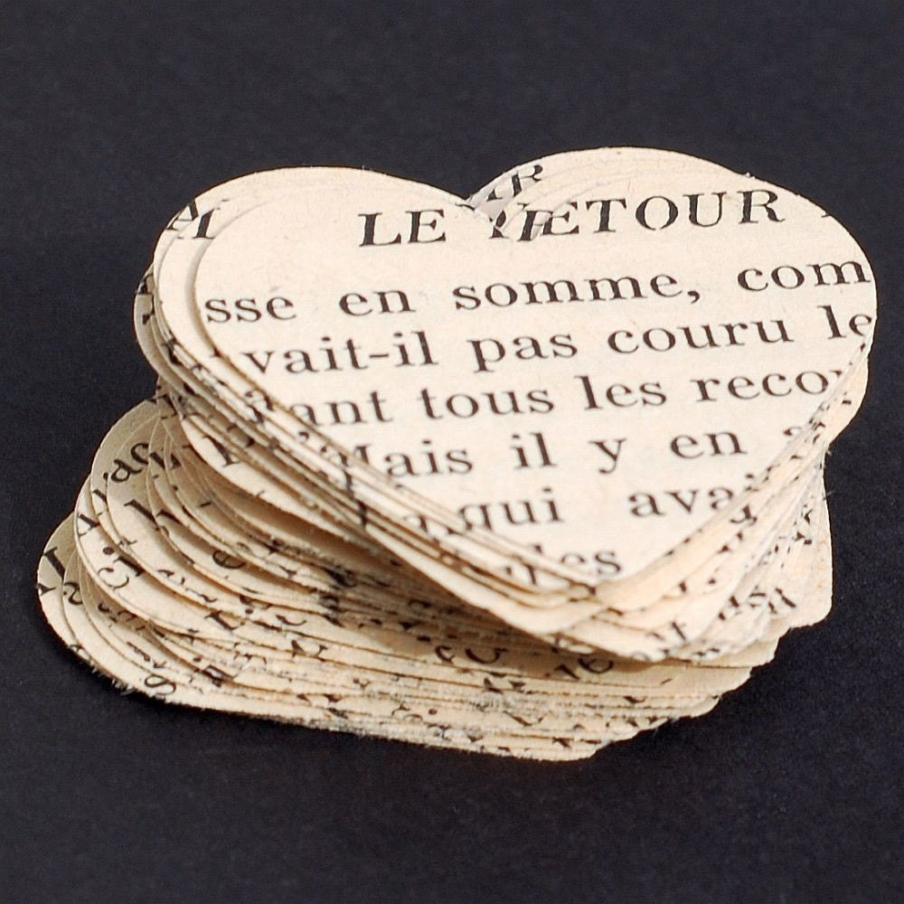 French Paper Hearts- French hearts, French party decorations, French ...