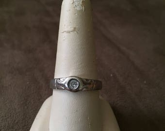 Vintage 925 Sterling Silver Design Ring, Size 9.5